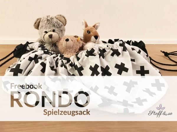 Freebook Rondo Spielzeugsack / Spielzeugsack / Gratis Schnittmuster / Stoff&so