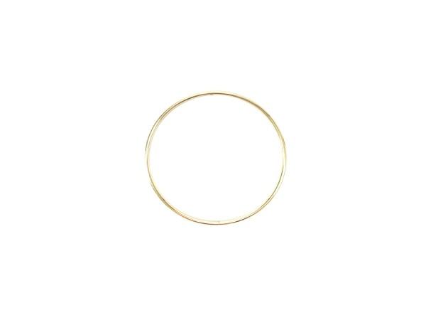 10cm Kranz Ring / Makramee Gold