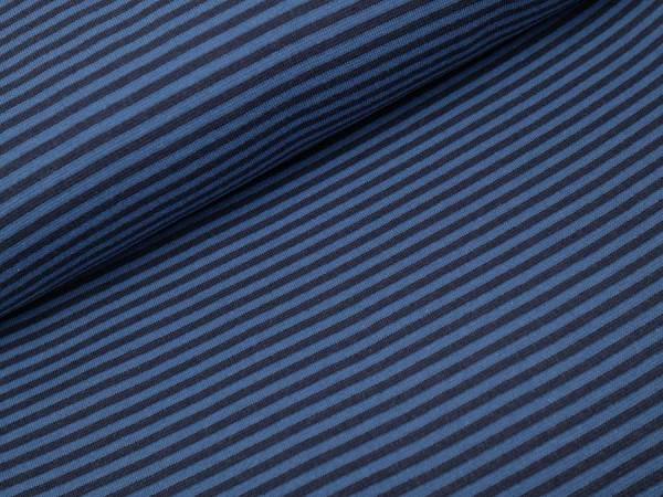 Bündchen Streifen blau / marine