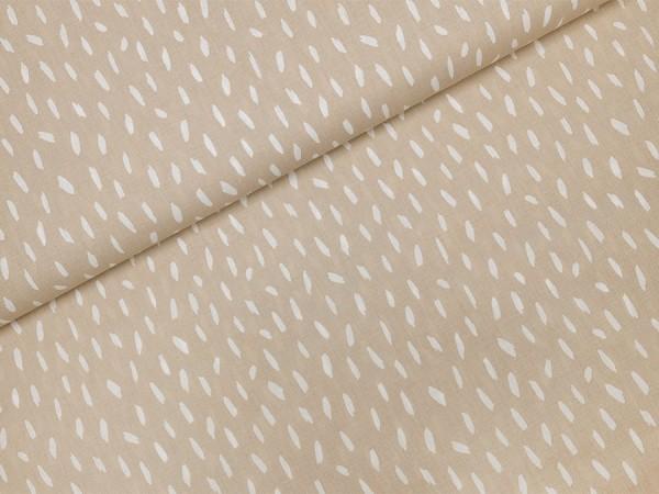 Baumwolle / Popeline Pinselstriche auf beige