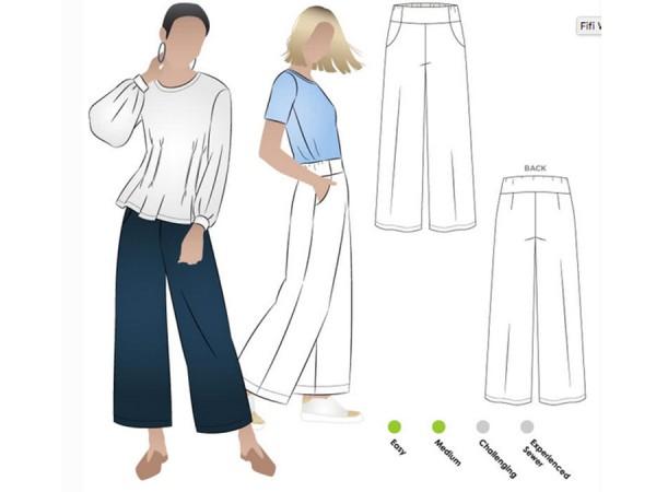 Schnittmuster Fifi / weite Hosen, Culotte / Style Arc