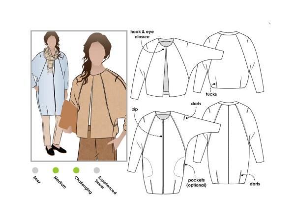 Schnittmuster Alegra / kurze Jacke, Mantel / Style Arc