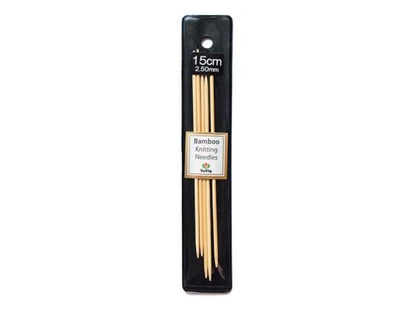 2,5 mm Nadelspiel 15cm / Holz, Bambus