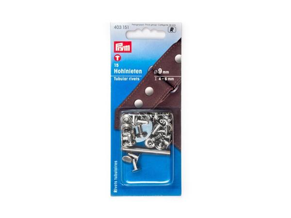 Prym Hohlnieten Länge 4-6mm, Durchmesser 9mm