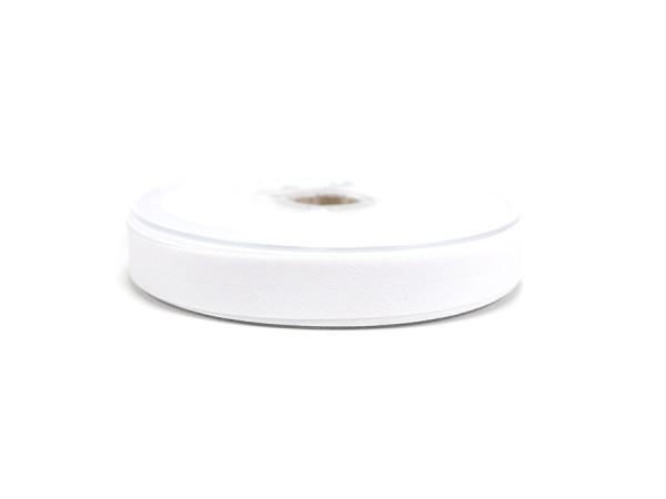 Schrägband 20mm weiss / pro Meter
