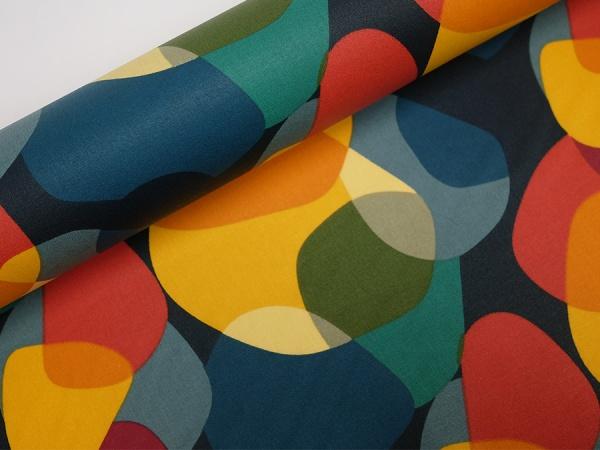 Baumwolle beschichtet farbige Kreise gemischt