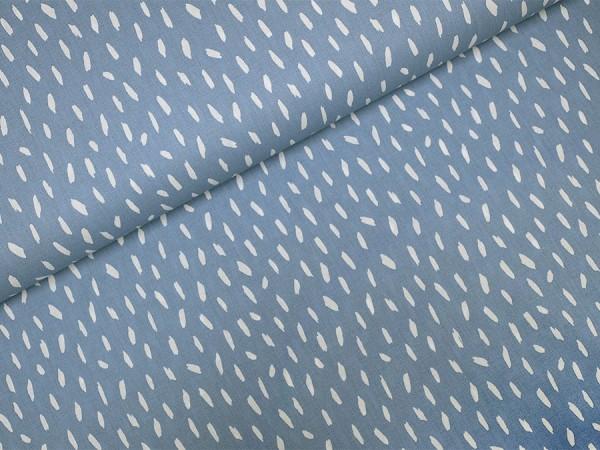 Baumwolle / Popeline Pinselstriche auf hellblau