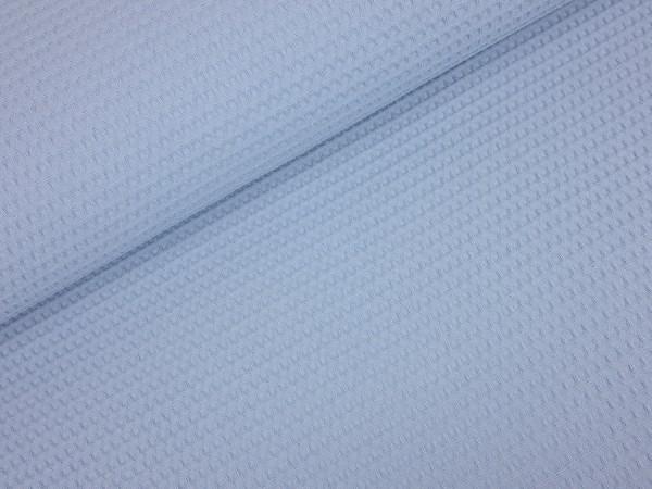 Waffelstoff dusty blau