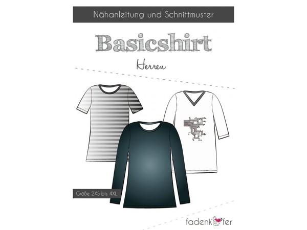 Schnittmuster / Basicshirt Herren / Fadenkäfer