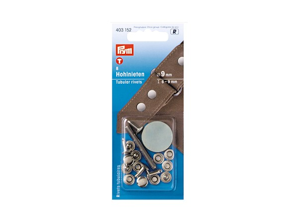 Prym Hohlnieten Länge 6-9mm, Durchmesser 9mm