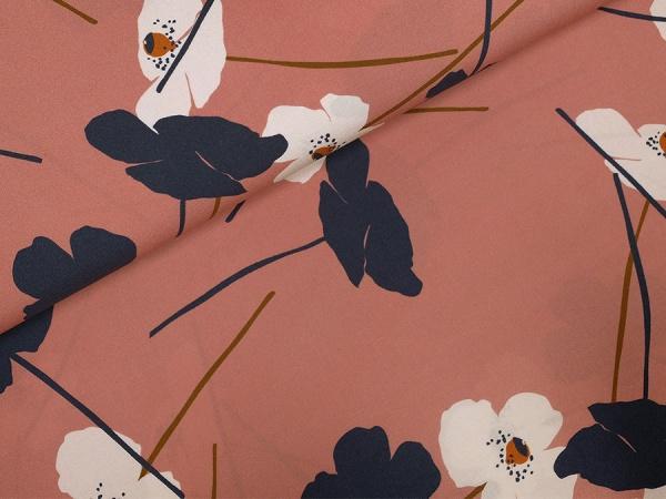 Viskose grosse Blüten auf altrosa