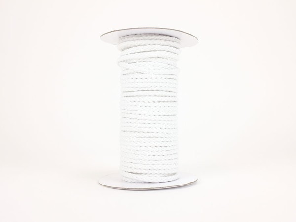 20 Meter Rolle / Kordel 6mm weiss
