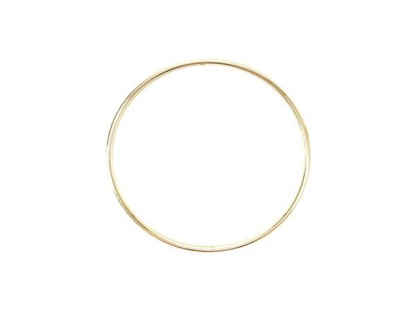 20cm Kranz Ring / Makrame Gold