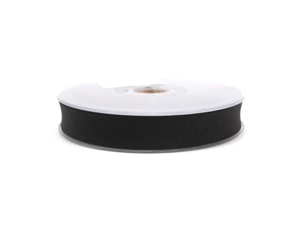 Schrägband 20mm schwarz / pro Meter