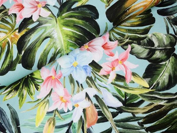 Canvas Regenwald aqua